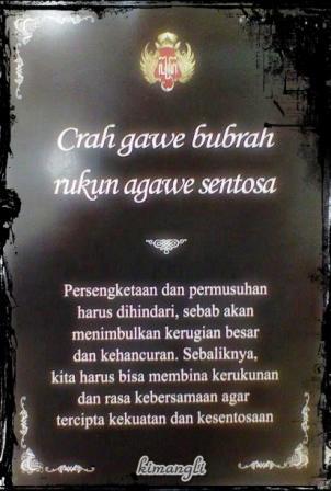 kimangli : Nasehat Jawa